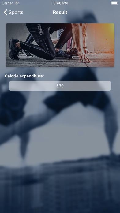 Sports Calorie Calculator screenshot #5