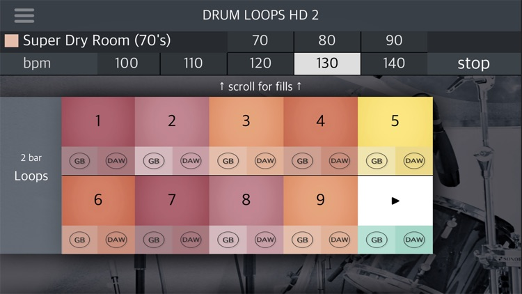 Drum Loops HD 2 screenshot-5
