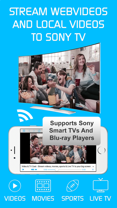 Video & TV Cast Pro for Sony screenshot 1
