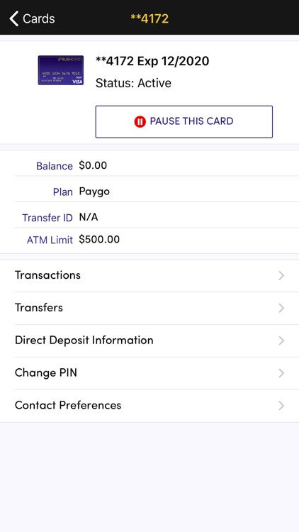 RushCard screenshot-1