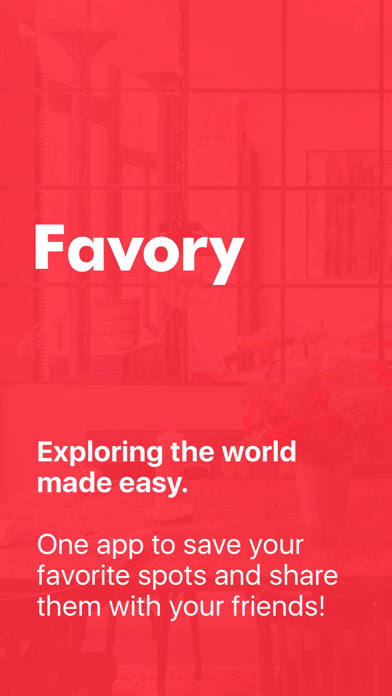 Favory - bookmark your spots