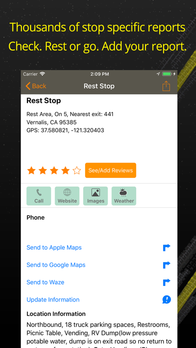 Rest Stops Plus review screenshots