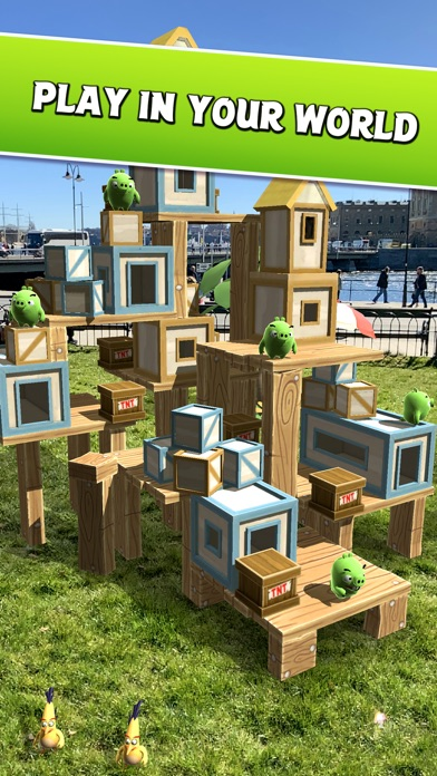Angry Birds AR: Isle of Pigs screenshot 2