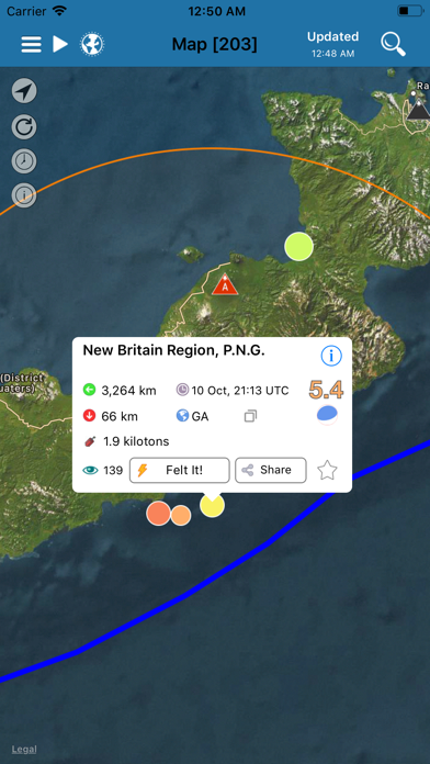 Earthquake review screenshots