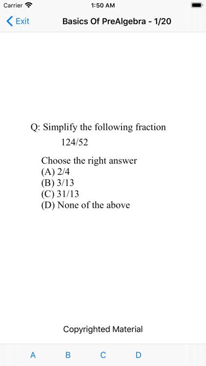 Basics Of Pre-Algebra screenshot-6