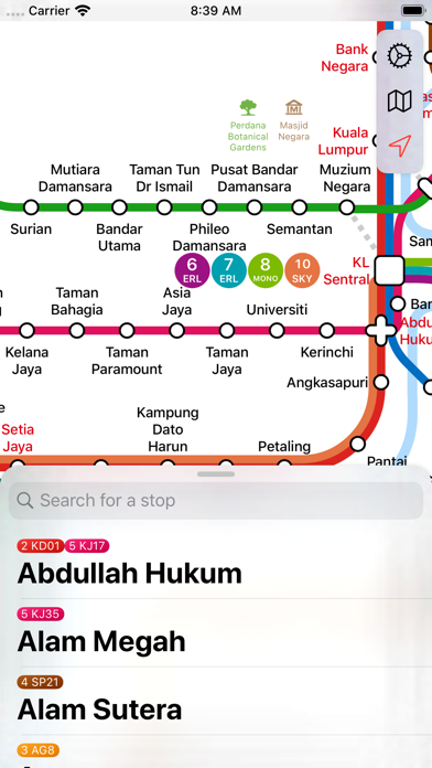 Screenshot #1 pour Kuala Lumpur Metro