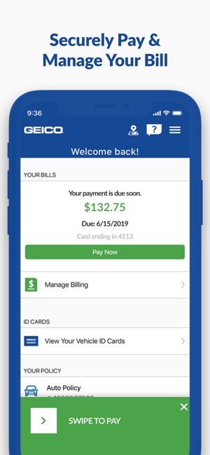Geico Quote | Geico Mobile Car Insurance On The App Store
