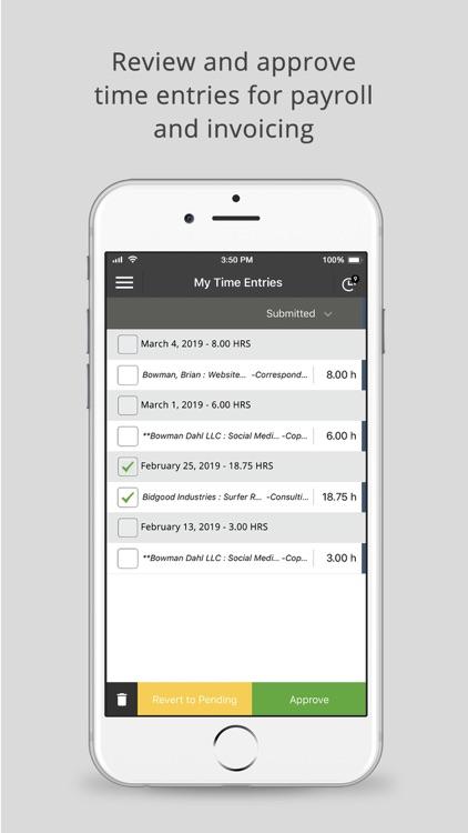 Time Tracker by eBillity screenshot-3