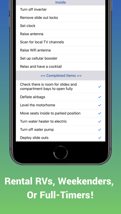 Ultimate RV Checklist Screenshot