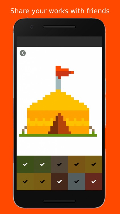 Pixel Art Color by Numbers 2D screenshot-5