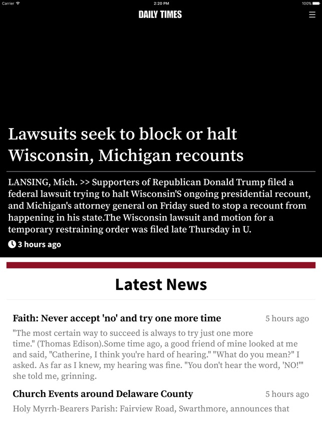 Delaware County Daily Times on the App Store