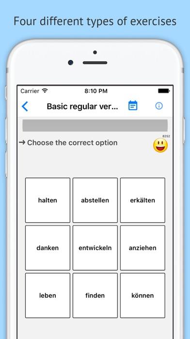 Verben - Trainer PRO screenshot two
