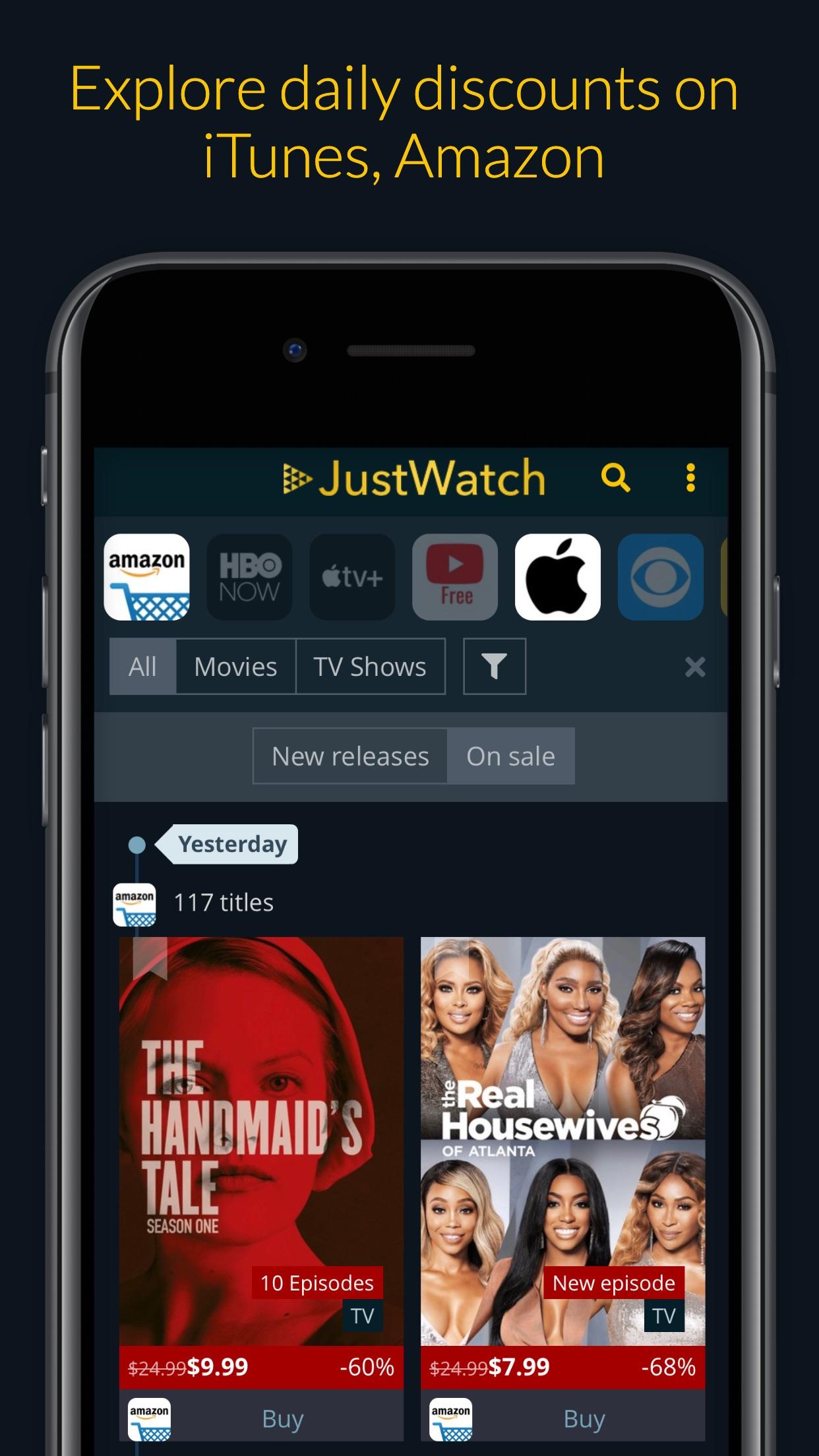 JustWatch - Movies & TV Shows Screenshot