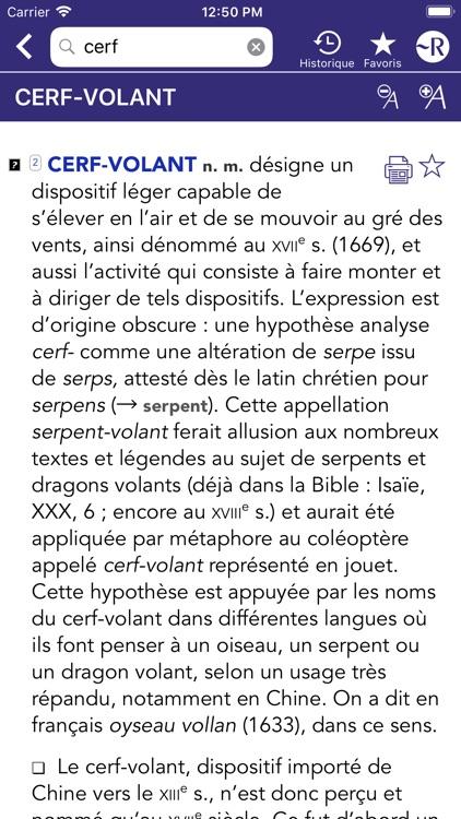Dictionnaire Robert Historique screenshot-3
