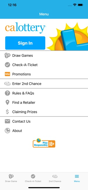 CA Lottery Official App on the App Store