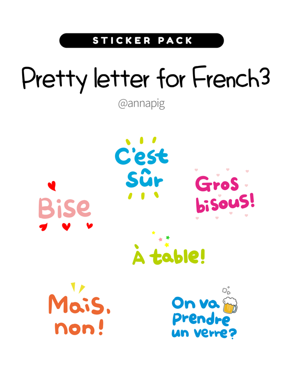 Pretty letter for French3 screenshot 4