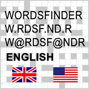 English Words Finder PRO - find the best words for crossword, Wordfeud, Scrabble, cryptogram, anagram, spelling and rhyme icon