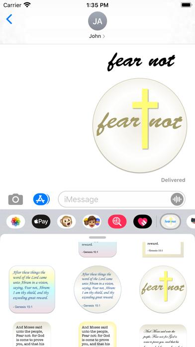 fear not stickers screenshot 2
