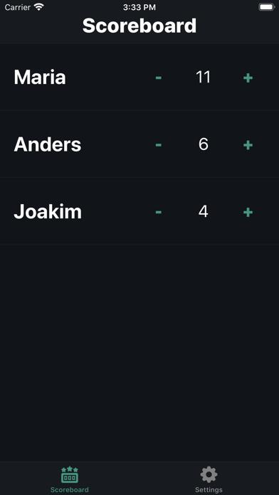 Screen Shot Scorekeeper 0