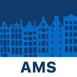 Ícone do app Amsterdam Travel Guide & Map