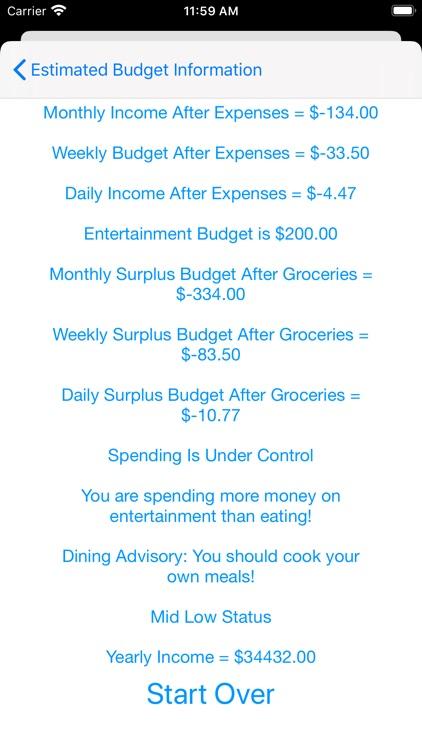 Simple Budget Estimator screenshot-7