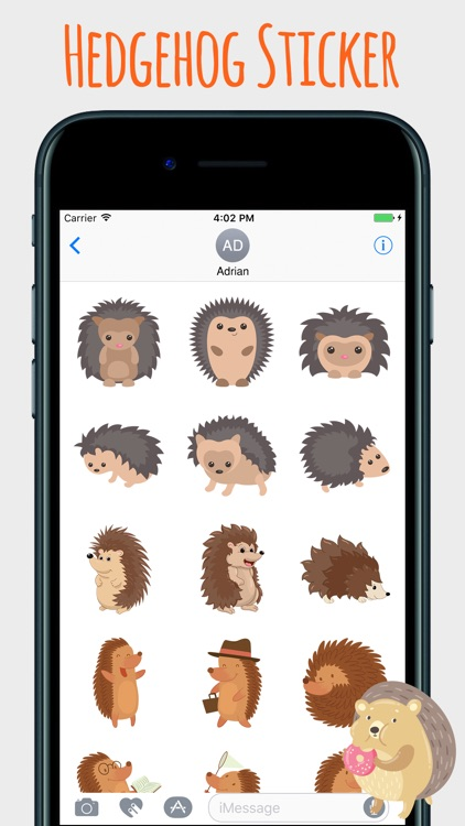 Spiky Hedgehog Stickers