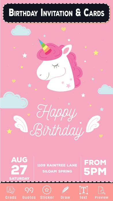 Birthday Invitation & Cards screenshot four