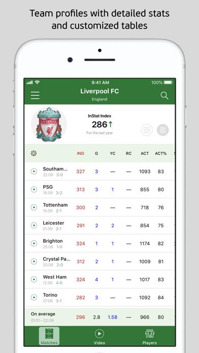 InStat Football Scout screenshot four