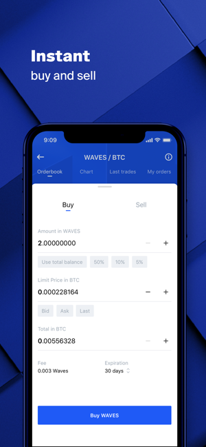 ‎Waves Cartera, bolsa de cripto Screenshot