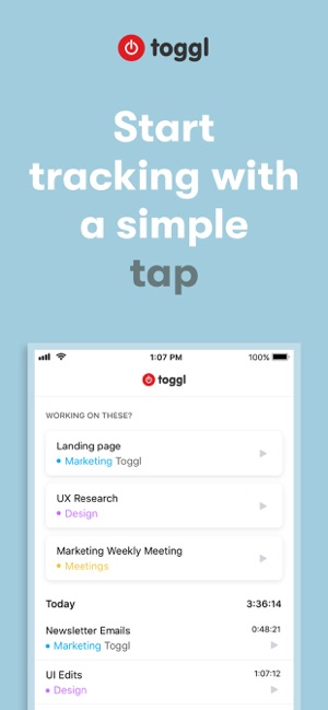 Toggl: Time Tracker for Work on the App Store