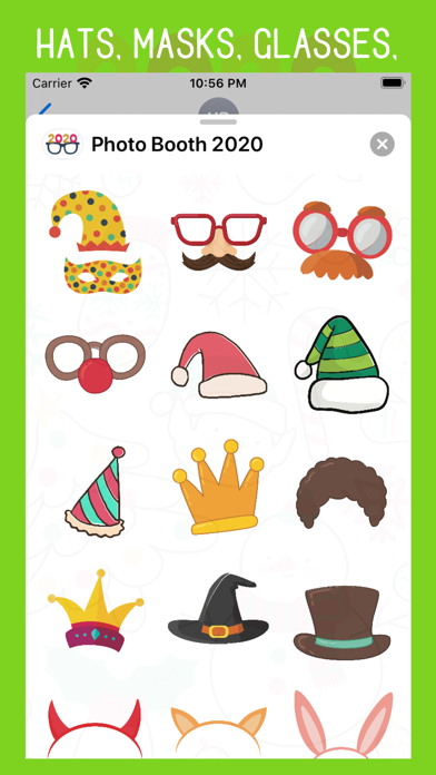 Photo Booth 2020 Stickers screenshot two