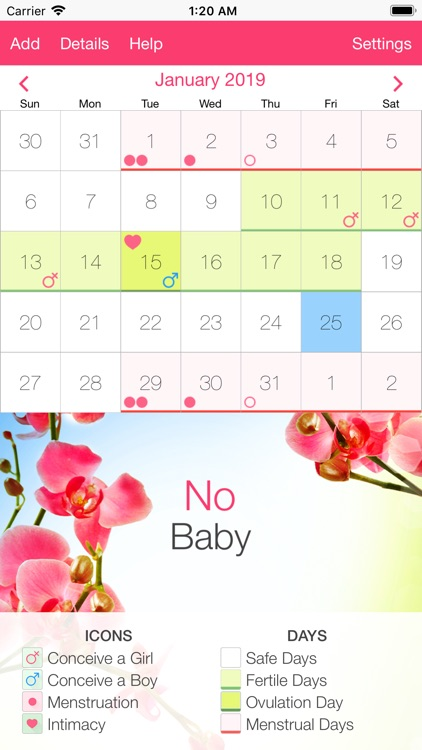 Fertility and Period Tracker