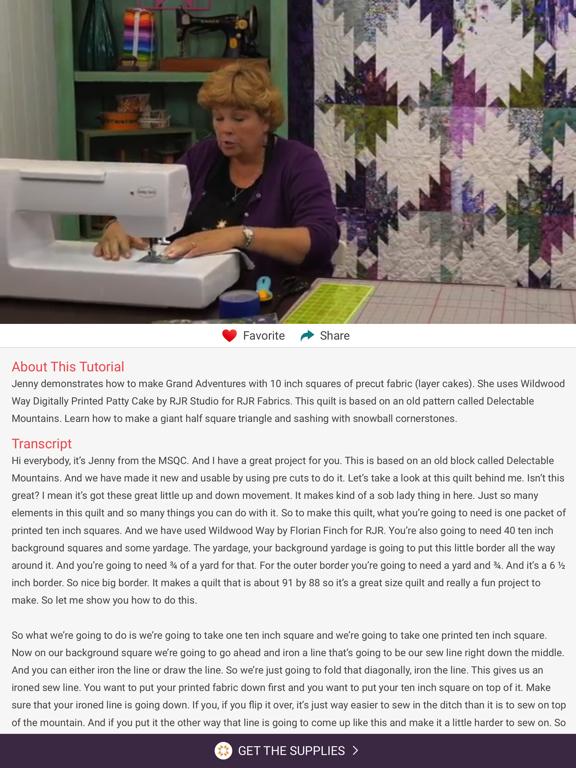 Quilting Tutorials by Missouri Star Quilt Company screenshot