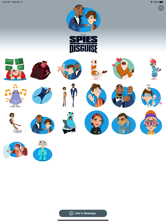 Spies in Disguise Stickers screenshot 5