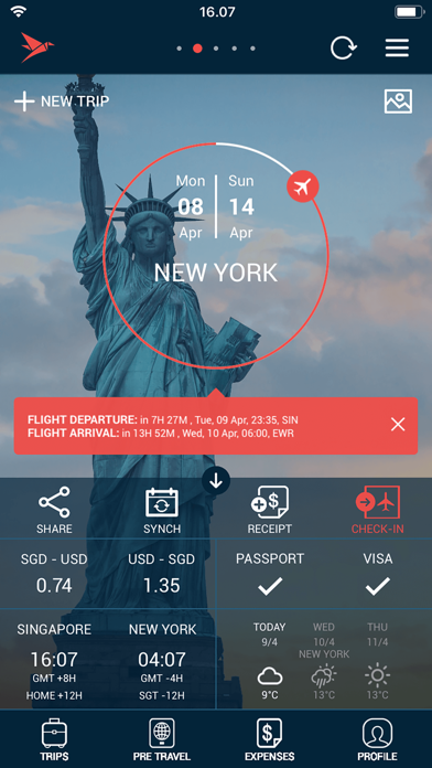 Traveller Buddy - Trip Planner screenshot one