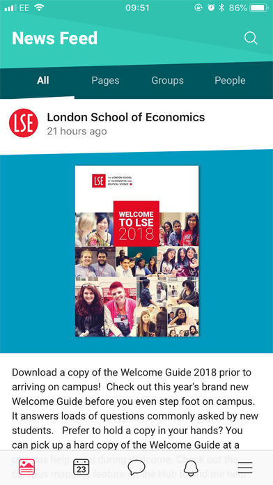 LSE Student Hub screenshot one