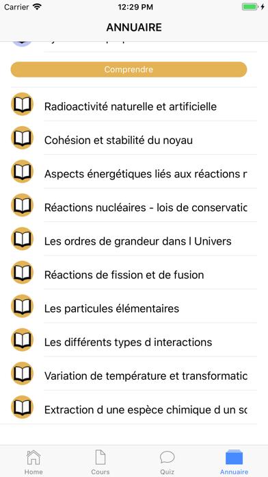 Chimie 1ère S screenshot 6