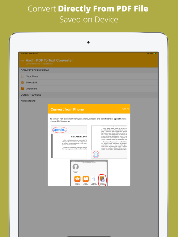 Aadhi PDF to Text Converter screenshot 7
