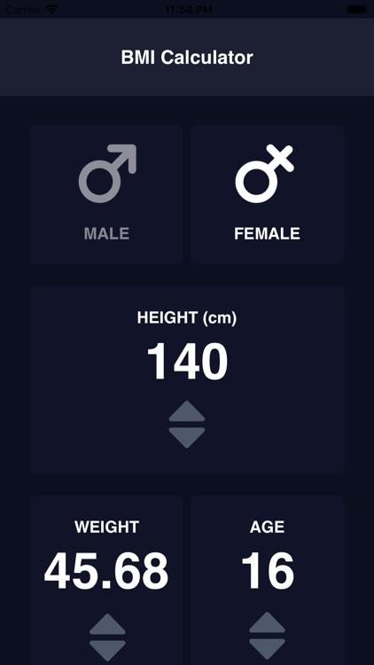 BMI Calculator 2019 screenshot-6