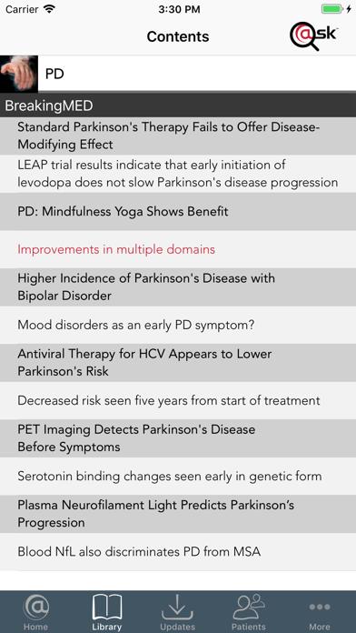 Parkinson's Disease (PD) screenshot two