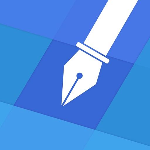 Blue Sketch - Handwritten note