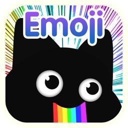 波斯黑猫可爱贴纸