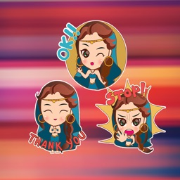 Arabic Girls mermaid stickers