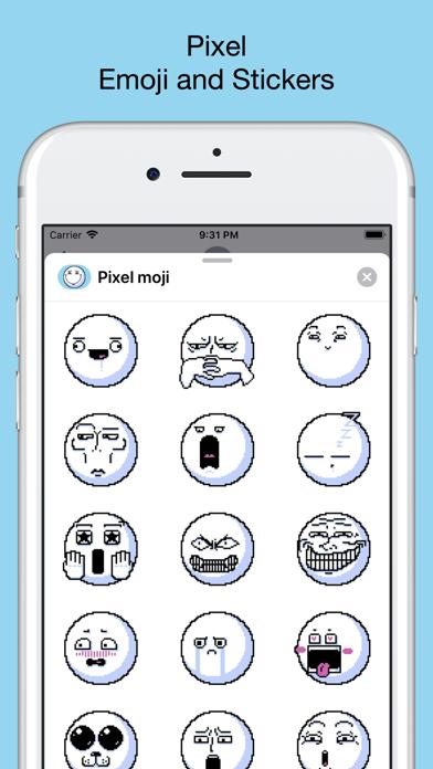 Pixel emoji - smiley stickers screenshot 1
