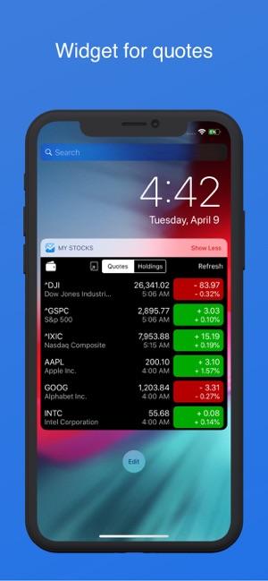 My Stocks Portfolio & Widget on the App Store