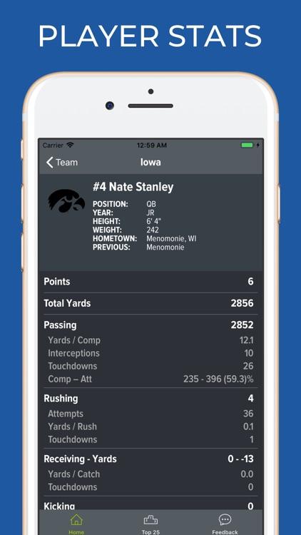 Iowa Football Schedules screenshot-3