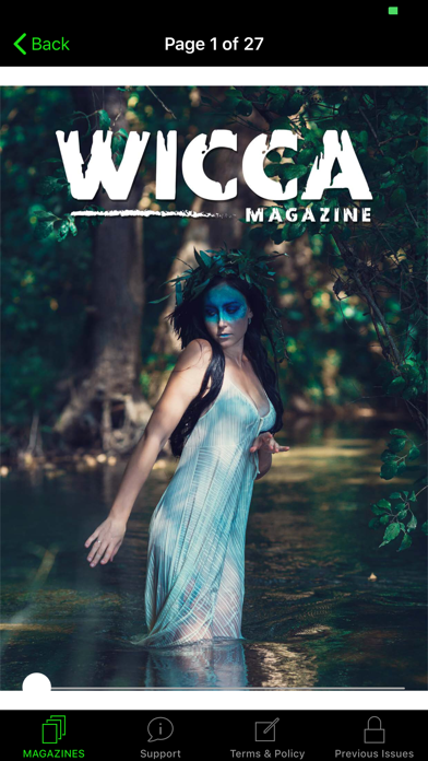 Wicca Magazine Screenshot