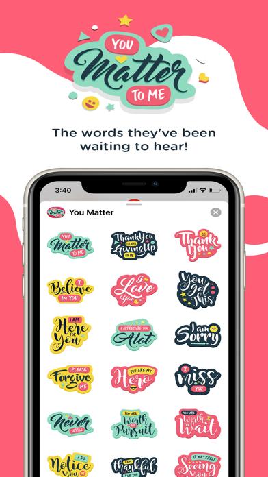 You Matter Sticker Pack screenshot one