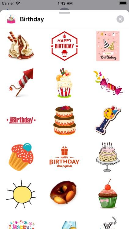 200+ Happy Birthday Stickers screenshot-8