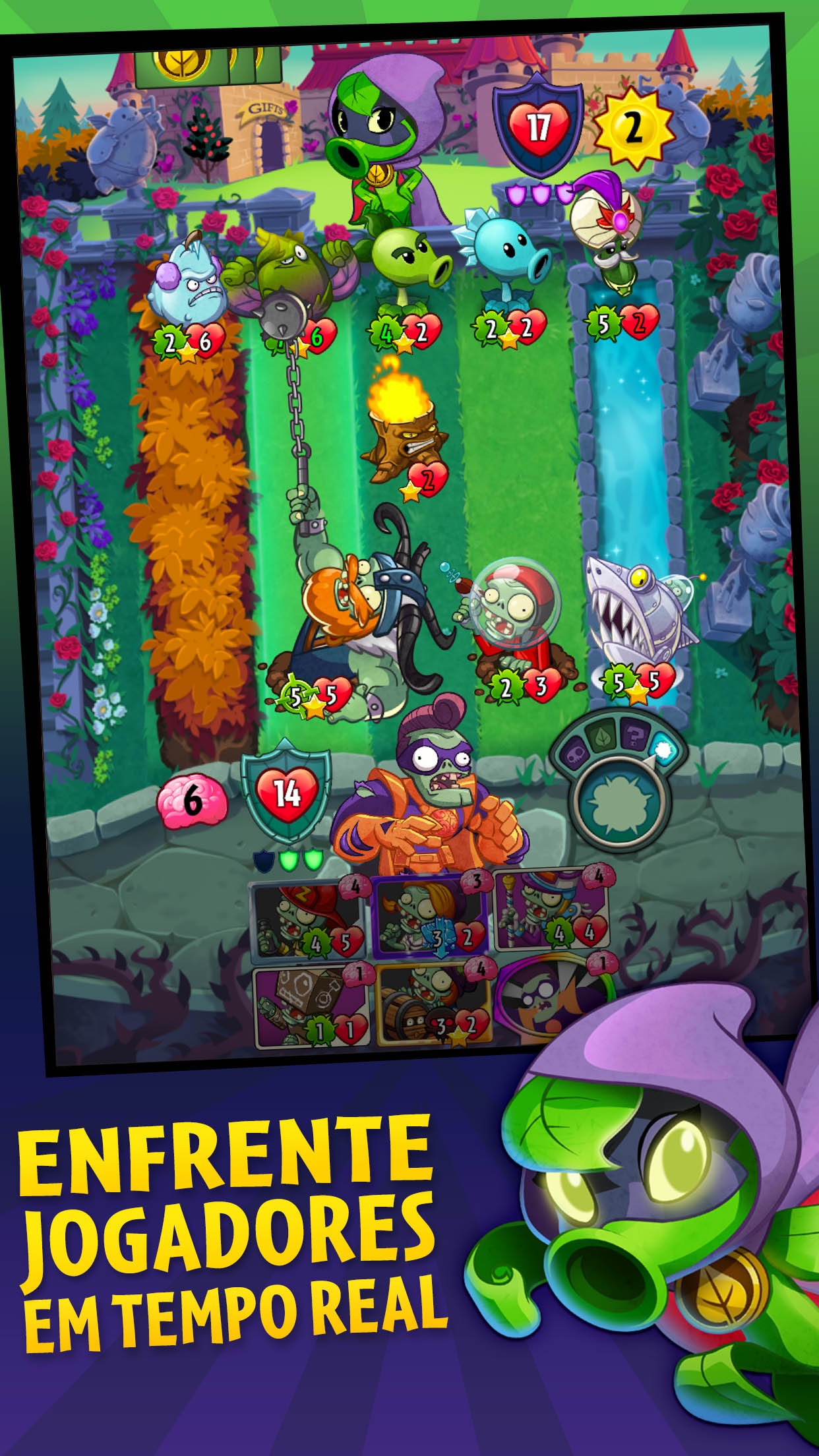 Screenshot do app Plants vs. Zombies™ Heroes